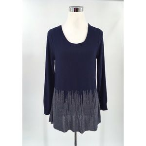 Soft Surroundings Long Sleeve Detail  Size PS Blue